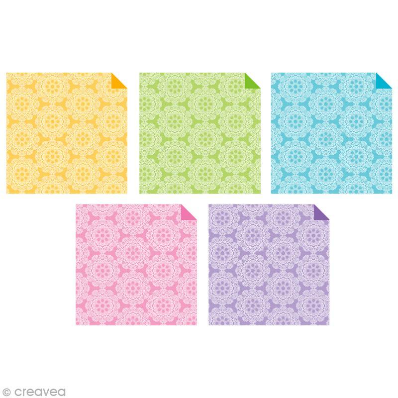 papier origami japonais assortiment 20 feuilles dentelles 15 x 15 cm papier origami. Black Bedroom Furniture Sets. Home Design Ideas