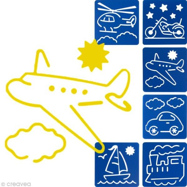 Pochoir enfant transport x 6 - Photo n°1