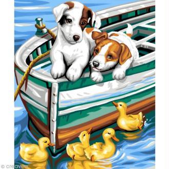 Peinture numéro - Chiens et Canards