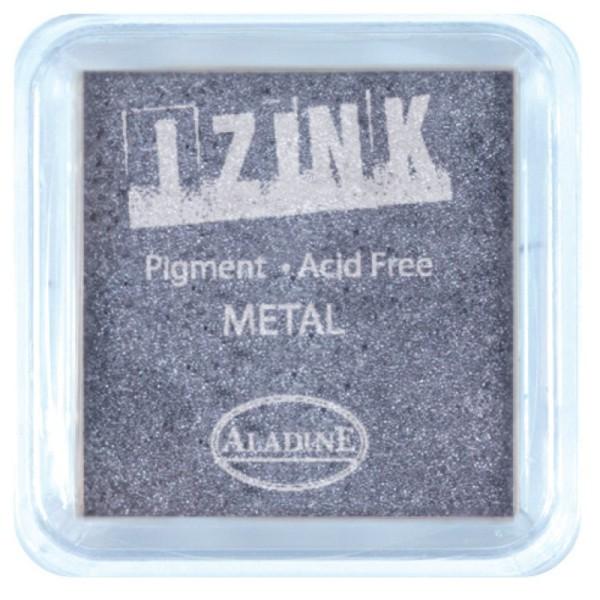 Encreur izink metal silver blue - Photo n°1