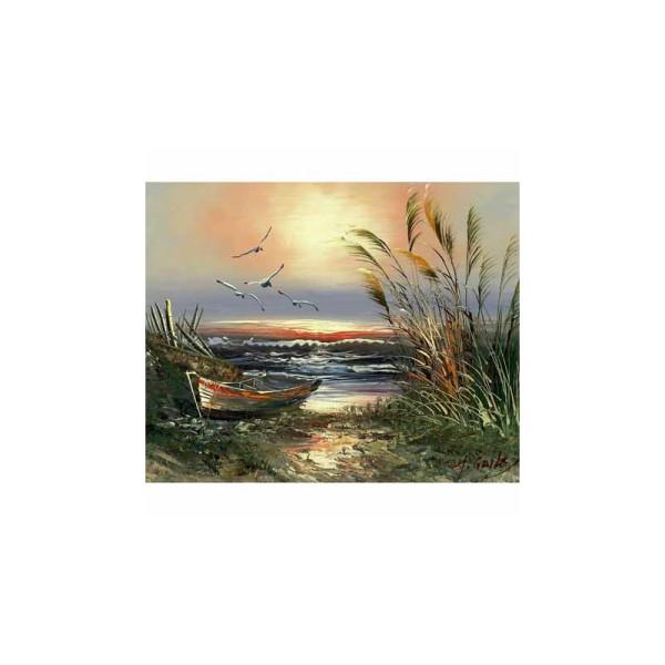 Image 3D - Gk2430057 - 24x30 - bateau au soleil couchant n°2 - Photo n°1