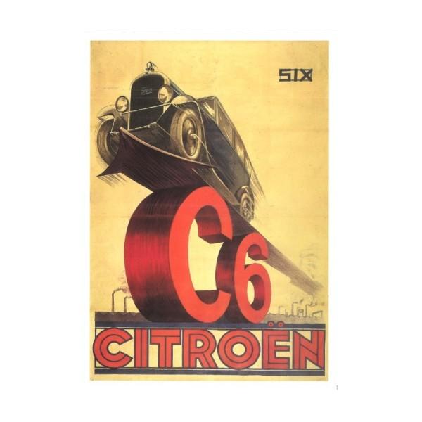 Carte publicité 15x21 citroen C6 n°735 - Photo n°1