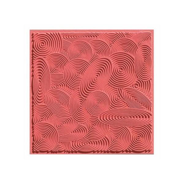 Cernit plaque de texture spirales - Photo n°1
