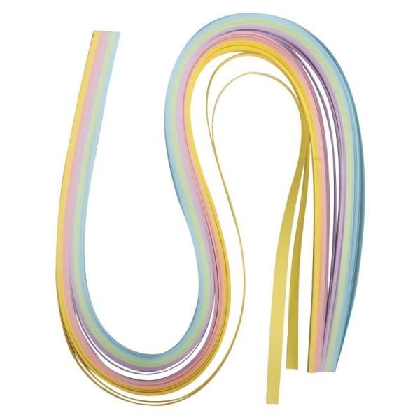 Papier pour quilling, pastel, 50x0,6cm 100 p. - Photo n°1