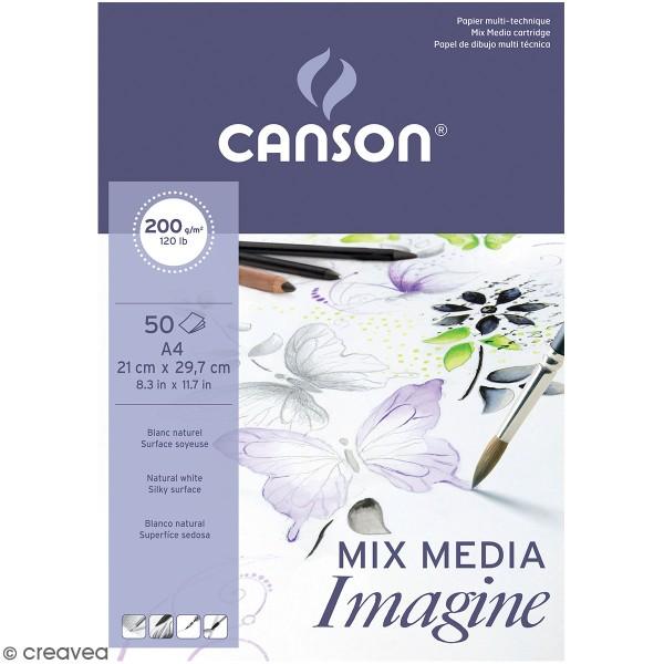 Papier Mix Media Imagine 200g CANSON - Photo n°1