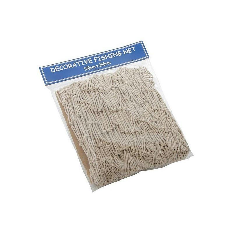 Filet de p che d coratif naturel en coton dim 2 x 4 m - Filet peche deco ...