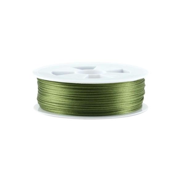 Queue de rat vert olive 1,5 mm x1 m - Photo n°1