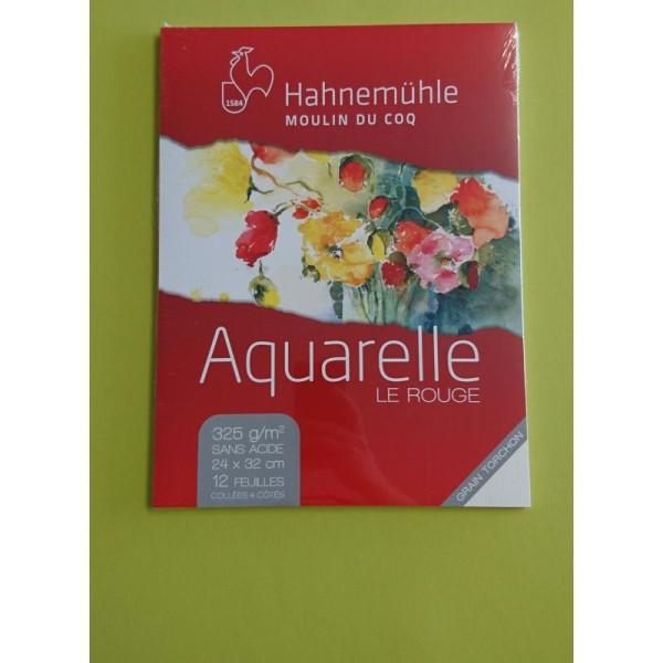 Aquarelle le rouge 24x32 cm Hahnemuhle - Photo n°1