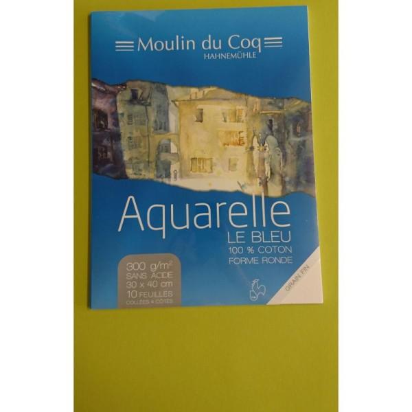 Aquarelle le bleu 30x40 cm Hahnemuhle - Photo n°2