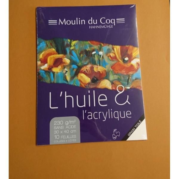 L'Huile & acrylique grain toilé 30x40cm Hahnemuhle - Photo n°1