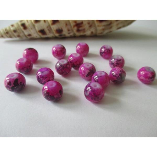 Lot de 40 perles Ovales en Bois 8 x 12mm Violet