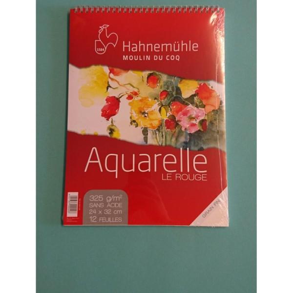 Aquarelle le rouge 24x32 Hahnemuhle - Photo n°2
