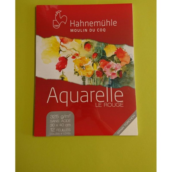 Aquarelle le rouge A3 325g Hahnemuhle - Photo n°1