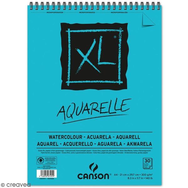 Carnet A4 Canson XL - Aquarelle - 30 feuilles - Photo n°1
