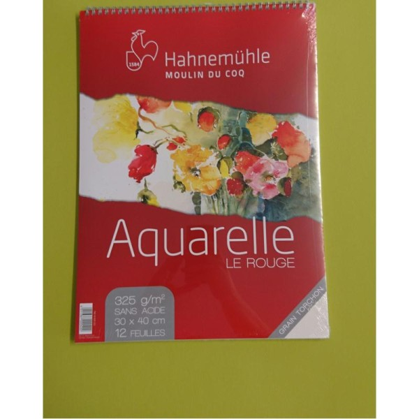 Aquarelle le rouge 30x40cm 325g Hahnemuhle - Photo n°2