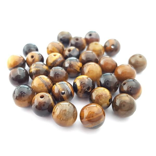 Perles pierre semi précieuse naturelle teinte agate craquelée