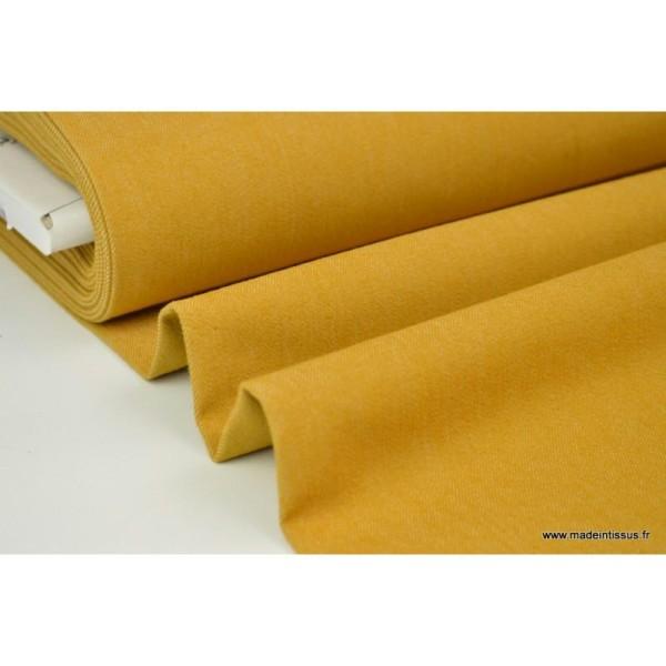beau tissu coton sergé jean imprimé stretch 100x140 cm