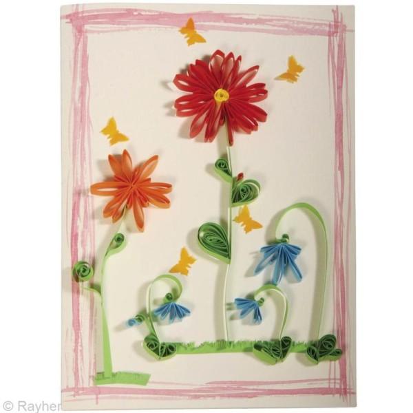 Papier pour quilling 50 x 0,6 cm - Pastel - Assortiment x 100 - Photo n°4