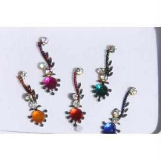 Stickers strass ou bijoux de peau indiens, bindis