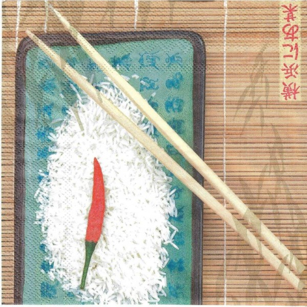 4 Serviettes en papier Cuisine Asie Format Lunch - Photo n°1