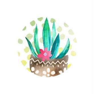 1 Cabochon Verre 25 mm , Cabochon Rond, Cactus, Plante Tropicale 1