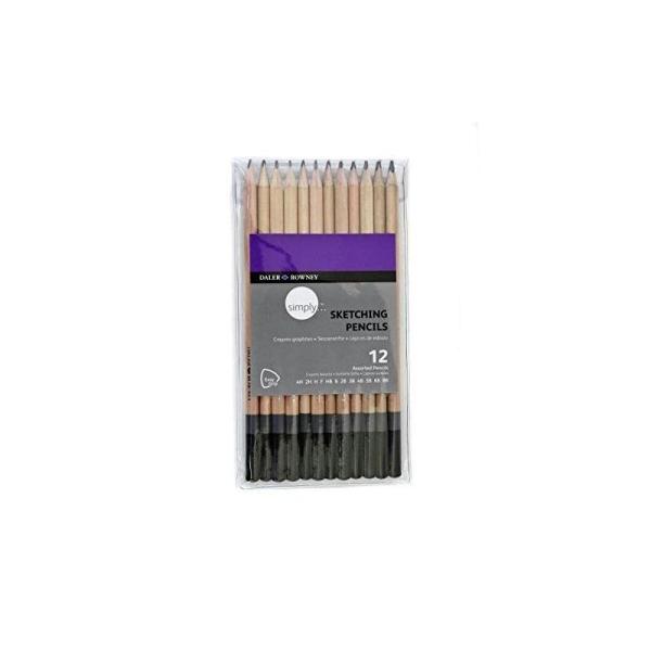 Daler Rowney - 644200012 - Kit De Loisirs Créatifs - 12 Crayons En Graphite Simply - Photo n°1