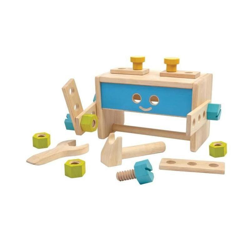 plan toys jeu en bois robot tabli jeux de construction creavea. Black Bedroom Furniture Sets. Home Design Ideas
