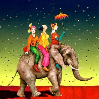 A dos d'éléphant 02 - carte postale