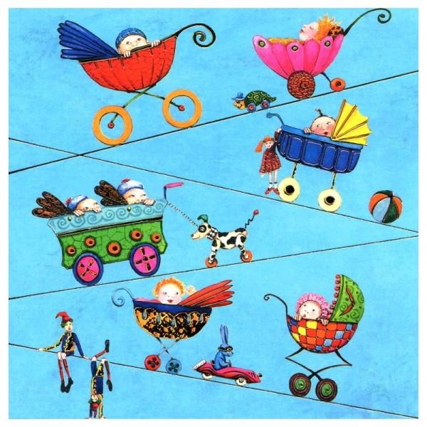Les poussettes 07 - carte postale - Photo n°1