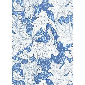 Grand feuillage bleu, papier indien