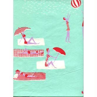 The beach, papier fantaisie indien