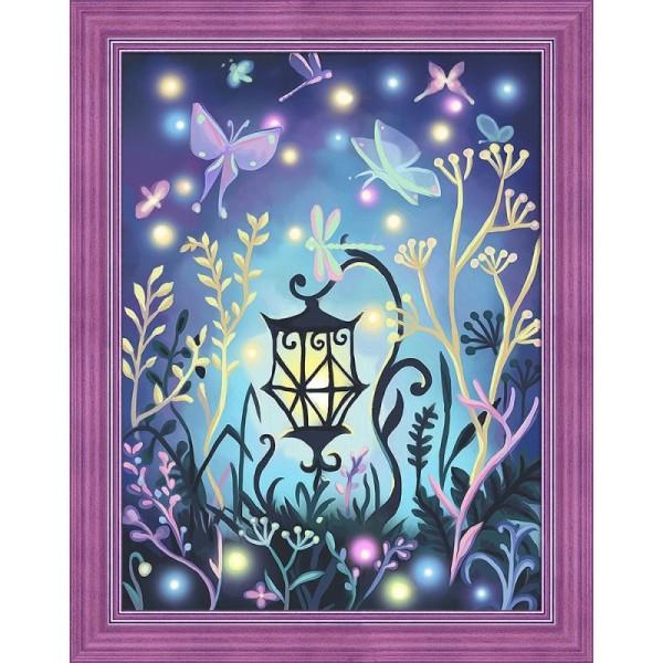 Broderie Diamant Kit - Lanterne - 40 x 30 cm - Photo n°1