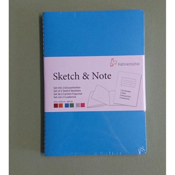 Set de 2 carnet Esquisse (bleu et turquoise) Hahnemuhle - Photo n°2