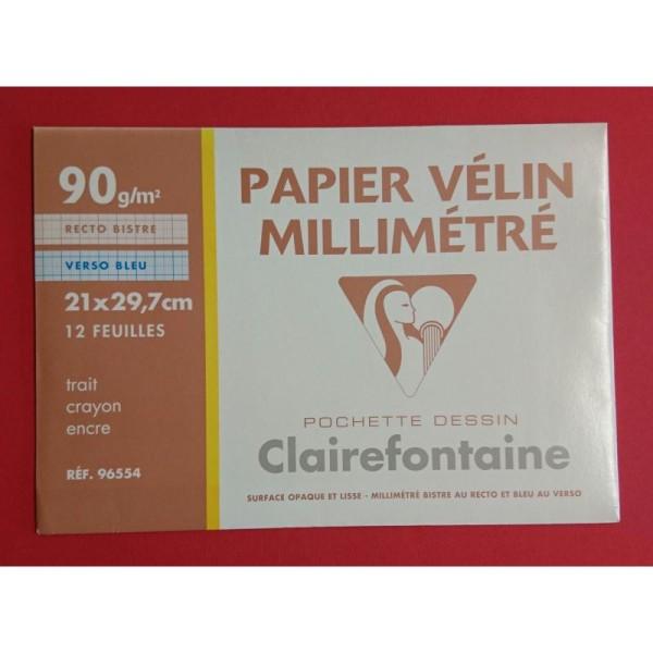 Papier vélin millimétré Clairefontaine - Photo n°1
