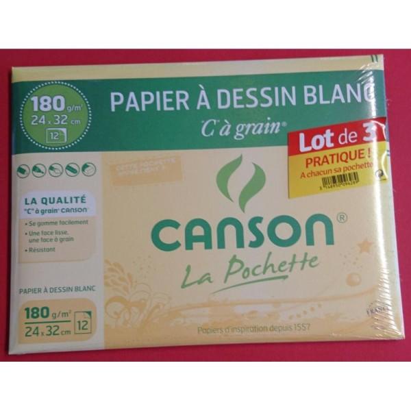 Lot de 3 pochettes Canson à dessin - Photo n°1