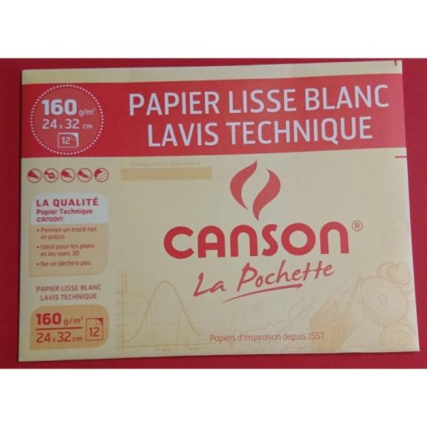 Papier lisse blanc lavis technique Canson - Photo n°1
