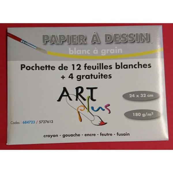 Papier à dessin blanc à grain Art plus - Photo n°1
