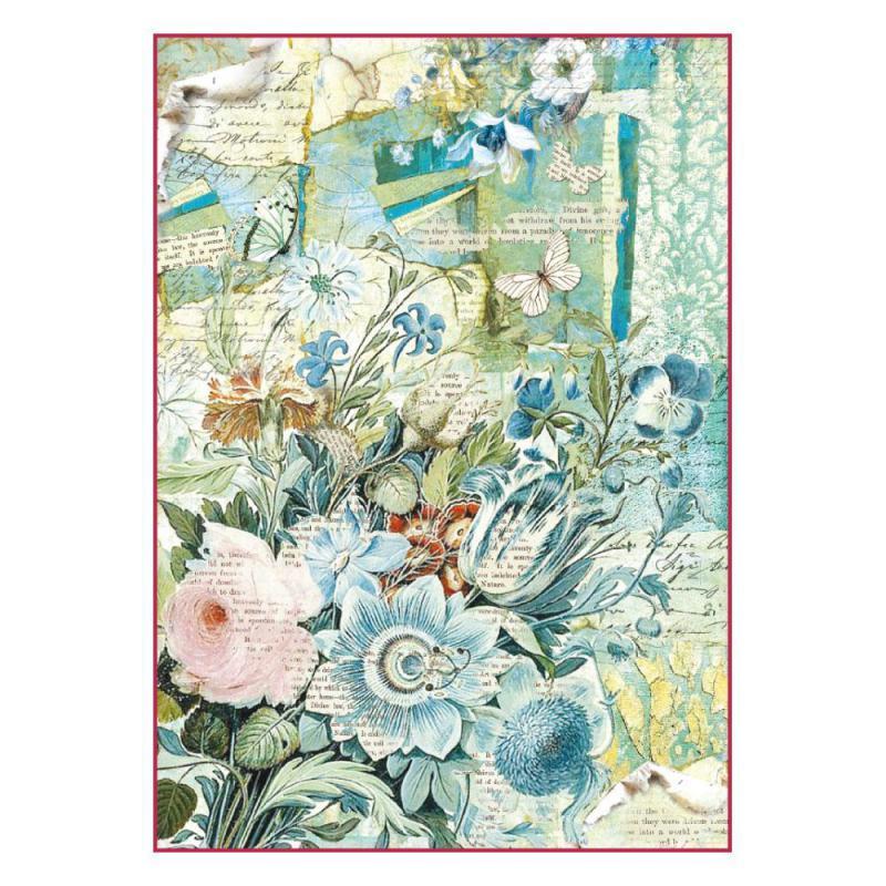 Papier de riz pour decoupage DECOPATCH scrapbooking feuille Craft rose papillons
