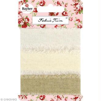 Ruban de tissu aspect lin naturel - 2 x 93 cm x 3