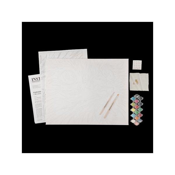 Kit de peinture par numéros - Bouledogue arc-en-ciel - 50x40cm - Photo n°2