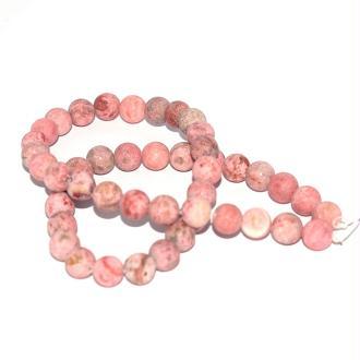 Perle agate givré vieux rose 8 mm x10