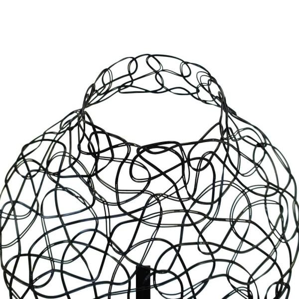 Porte bijoux buste métal pour un collier Noir - Photo n°3