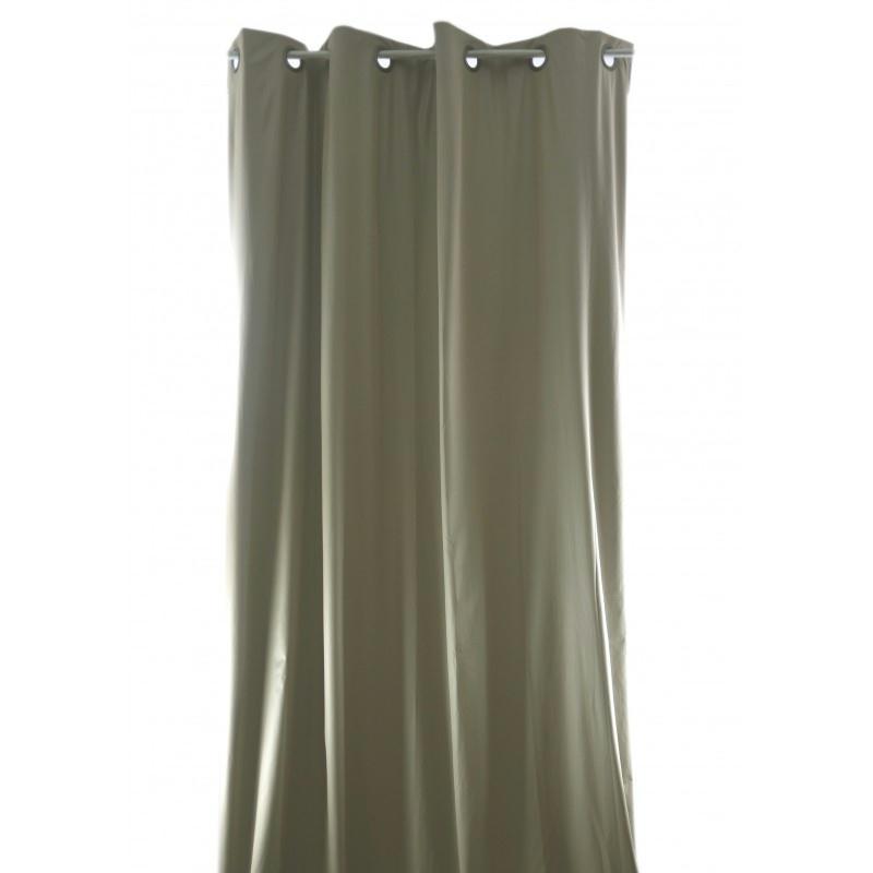rideau isolant phonique et thermique 150x260 pret poser beige tissu voile et r sille creavea. Black Bedroom Furniture Sets. Home Design Ideas