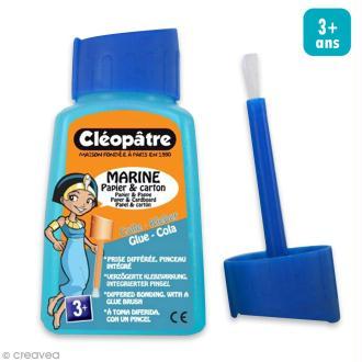 Colle bleue avec pinceau Céopâtre - 80 g