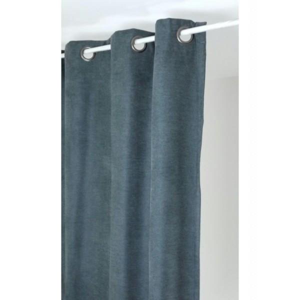 rideau isolant thermique 140x260 pret poser gris fonc. Black Bedroom Furniture Sets. Home Design Ideas
