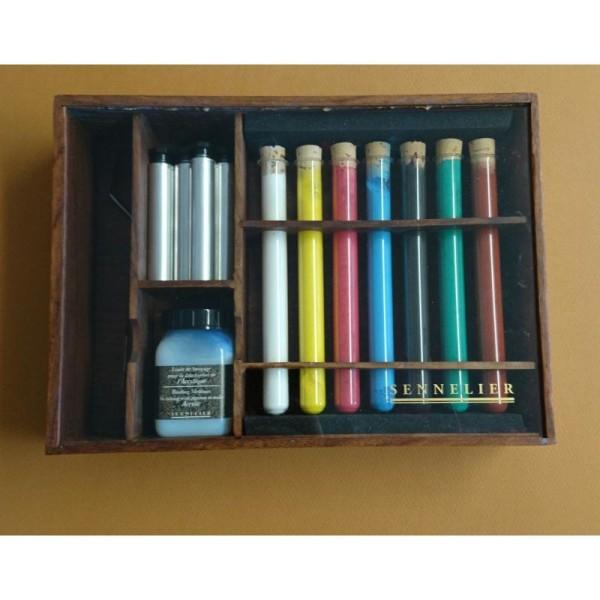 Kit de pigments pour fabriquer son acrylique - Photo n°1