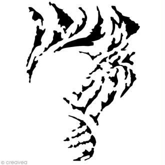Pochoir maquillage Paint me - Tigre - 14,5 x 10 cm