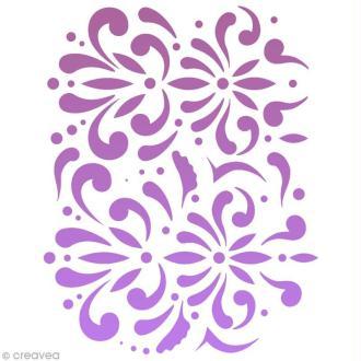Pochoir maquillage Paint me - Fleur - 14,5 x 10,5 cm