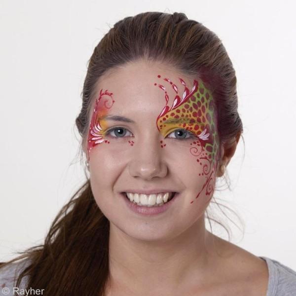 Pochoir maquillage Paint me - Fourrure - 14,5 x 10,5 cm - Photo n°2