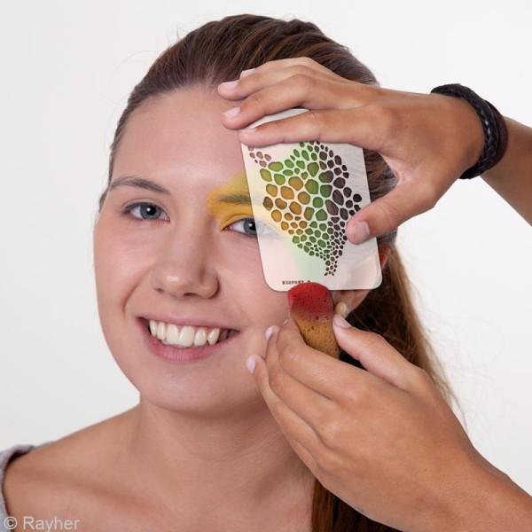 Pochoir maquillage Paint me - Fourrure - 14,5 x 10,5 cm - Photo n°3